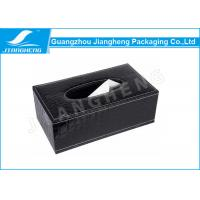 China Black Series Tissue Leather Packaging Box Gold Stamping / Glossy Lamination Surface on sale