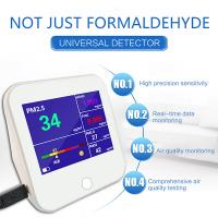 Buy cheap Air Quality Monitor, Accurate Testing Formaldehyde(HCHO) Detector with TVOC/AQI/TEMP/HUM Test Data Monitor Europe product