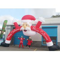 Buy cheap Santa Claus Christmas Inflatable Archway 210 D Oxford Cloth For Outdoor Event product