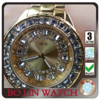 Buy cheap Classic Chunky Quartz Mens 24k Gold Watch , Date Display Gold Chain Silver Watch product
