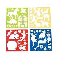 Plastic Pet Stencils - Includes Dogs, Cats, Lizards, Rabits, Bird Cages, Turtle, Paw Print