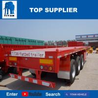 Quality TITAN VEHICLE 40 ft flatbed truck trailer with 3 axle for sale
