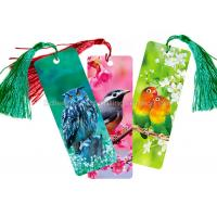 Buy cheap Custom 0.6 mm PET 3D Lenticular Bookmark With Two Sides CMYK Printing product