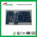 Buy cheap Blue Multilayer PCB Board 6l fr4 1.6MM LF HASL + GOLD FINGER product