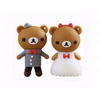 Buy cheap cartoon bear pendrive bride groom pen drive 4gb usb flash drive  memory stick wedding gift product