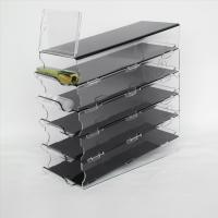 Buy cheap Slanted Acrylic Makeup Rack for Cosmetics Compartment Plexiglass Lipstick Display Stand product