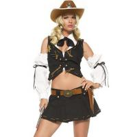 Buy cheap Black White Country Sheriff Party Adult Costumes / Female Halloween Costumes product
