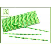 Buy cheap Eco - Friendly Bamboo Paper Straws , Birch Wood Design Green Decorative Paper Straws product