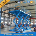 Buy cheap 3T 5M Warehouse Cargo Lift Material Loading Hydraulic Scissor Lift Platform product
