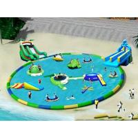 Buy cheap Commercial Inflatable Water Park / Pool With Slide for rental product