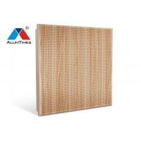 Buy cheap Leaf Shaped Wooden Color Aluminium Perforated Ceiling / Acoustic False Ceiling product
