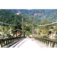 China Permanent Assembly Steel Cable Suspension Bridge Simple structure on sale