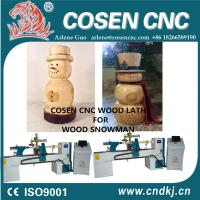 China COSEN CNC woodworking lathe for skilled wood crafts like a wood snowman on sale
