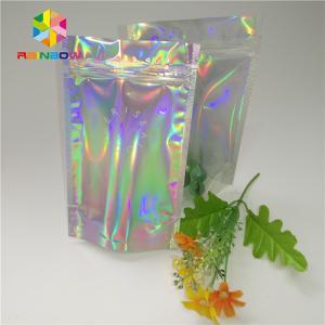 Buy cheap Custom Printing Plastic Cosmetic Bags Three Side Seal Hologram Laser Wateproof from wholesalers