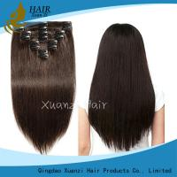 Buy cheap Wholesale HighQuality 100% Brazilian Remy Hair Double Drawn Clip in Hair ExtensionQuality Assurance from wholesalers