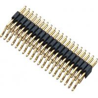 Buy cheap WCON Connector 1.27 Mm Pitch Pin Header 90° SMT PA9T BK H=2.5 Horizontal posts product