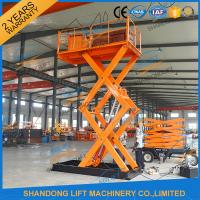 Buy cheap 5T 3.5M Stationary Hydraulic Scissor Lift , Scissor Lifting Platform product