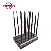 Buy cheap 12 - Way Cell Phone Signal Blocker Sweep Jamming Type With 6 - 8W / Band Output Power product