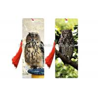 Buy cheap Laminated Design Your Own Bookmark  3d Effect Printing With Tassel Flip Effect product