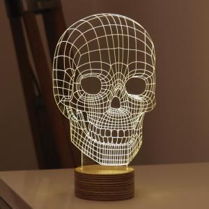 Buy cheap Amazing 3D Illusion Light Skull LED Table Lamp Night Light product