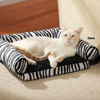 China Tear Resistant Memory Foam Cat Bed , Zebra Print Memory Foam Mattress Dog Bed on sale