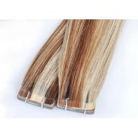 Buy cheap Straight Tape In Human Hair Extensions , Double Dawn Dark Brown Tape In Hair Extensions product