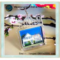 Buy cheap House Shaped Digital Picture Keychain Blank Acrylic for Photo Insert product