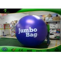 Quality Inflatable PVC Advertising Purple Balloon / Inflatable Custom Logo Balloon With for sale