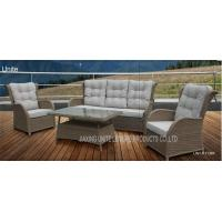 Buy cheap Wicker Conversation Patio Seating Sets / Patio Furniture Table And Chairs Weatherproof product