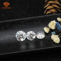 Buy cheap Forever brilliant round 2 ct 8mm moissanite price white synthetic loose stones from wholesalers