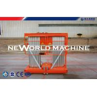 Buy cheap 6m Double Mast Hydraulic Aerial Work Platform Aluminum Alloy from wholesalers