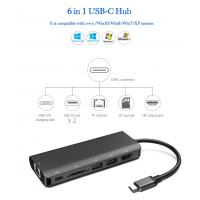 Buy cheap Factory Multi-functional Type-C to 4K HDMI PD and USB 3.0 Hub Adapter 6 in 1 USB-C Docking station product