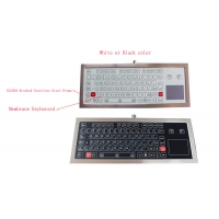 Buy cheap Industrial Ruggedized Membrane Keyboard with Touchpad Steel Plate product