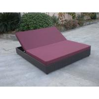 Buy cheap Outdoor Rattan Material Chaise Lounge Daybed In Double,Cushion Cover With Adjustable Back product