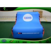 Buy cheap Waterproof Blue Inflatable Sofa Brand Printed PVC Model Inflatable Sofa Chair product