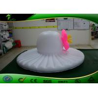Quality Customized PVC Inflatable Hat Shape / Inflatable Hat Type Model With Flower For for sale