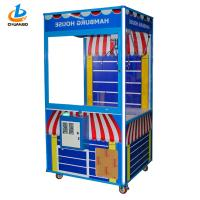 Blue Arcade Claw Crane Machine With Colorful LED Lights CE Certification