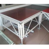 Buy cheap Adjustable Portable Aluminium Stage Platform / Movable Wedding Stage Aluminum product
