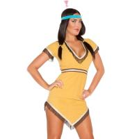Buy cheap Yellow Native Lily Costume Sexy Girl Halloween Costume Dress And Hairband product