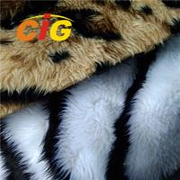 Buy cheap 100% Polyester Colorful Fox Fur Fabric Tricot Plain Fabirc Width 160cm product