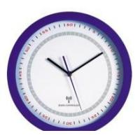 China round analog radio controlled wall clock on sale