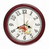 China 10/12-inch Atomic Analog Wooden Wall Clock, RCC with WWVB, DCF, MSF for Selectable on sale