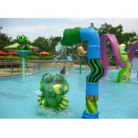 China Spray Water Game For Kids ,Frog Style Fiberglass Aqua Park Equipment Toys on sale