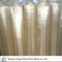 Buy cheap Brass Wire Mesh|Square or Rectangle Hole Made by 70 Brass for Filter Liquid product