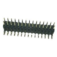 Buy cheap Right  Angle 	Pin Header  2mm Pitch Connector , PA9T Black Double Row product