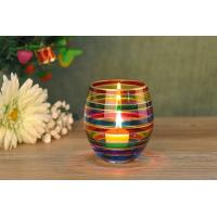 Buy cheap Wedding Decorative Glass Candle Holder , Colored Glass Votive Candle Holders product