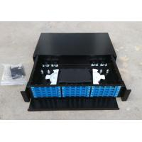 Buy cheap Metal Drawer Typefiber Optic Terminal Box 36/48  Port  Fiber Optic Patch Box product