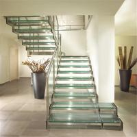 China Popular Style Double U Channel Stringer Modern Straight Staircase with Low Price on sale