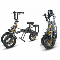 China 3 Wheel Folding Long Range Electric Trike CE Certificate DC Brushless Controller on sale