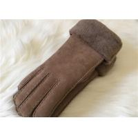 Buy cheap ladies double face shearling Turn Cuff gloves hand sewn shearling suede gloves product
